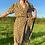 Thumbnail: Khaki Floral Midi Dress