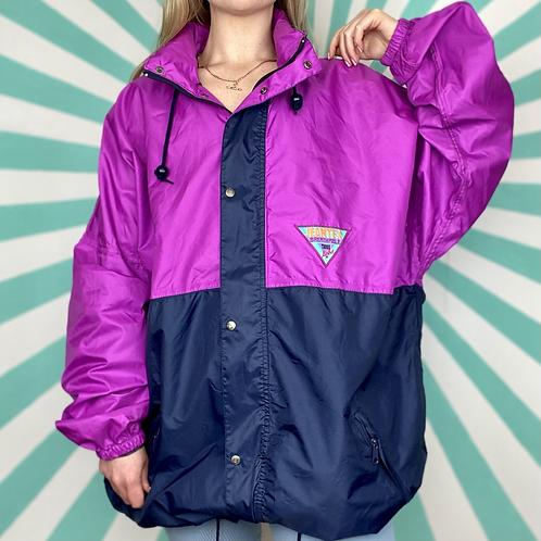 Navy / Pink Rain Jacket