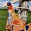 Thumbnail: Orange Floral Swimsuit