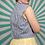Thumbnail: Blue Striped Cropped Blouse