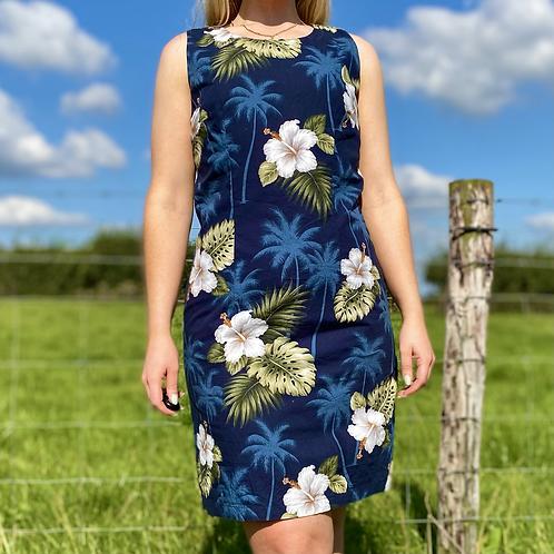 Navy Hawaiian Summer Dress