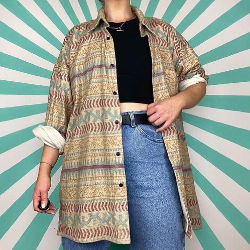 Aztec Patterened Cotton Shirt