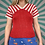 Thumbnail: Vintage Red Knitted Crop