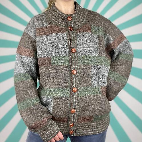Italian Vintage Wool Cardigan