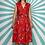 Thumbnail: Red Floral Midi Dress