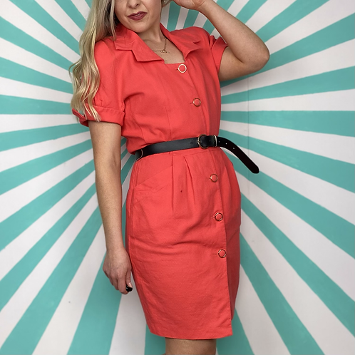 Vintage Coral Pink Dress