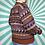 Thumbnail: Brown Funky Knit Jumper