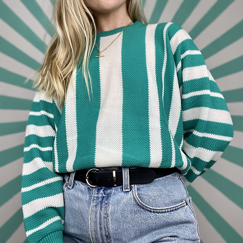 Green Striped Summer Knit