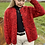 Thumbnail: Vintage Red Knitted Cardigan