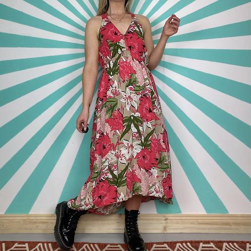 90s Pink Floral Dress