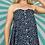 Thumbnail: Black Floral Strapless Dress