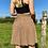 Thumbnail: Beige Polka Pleated Skirt