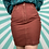 Thumbnail: Vintage Burgundy Retro Skirt