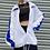 Thumbnail: White / Blue Retro Windbreaker