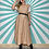 Thumbnail: Beige Chequered Maxi Dress