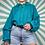 Thumbnail: 100% Wool Turquoise Knit