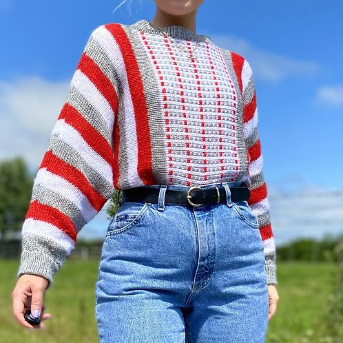 Red Summer Knit Jumper