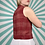 Thumbnail: Vintage Red Cropped Blouse