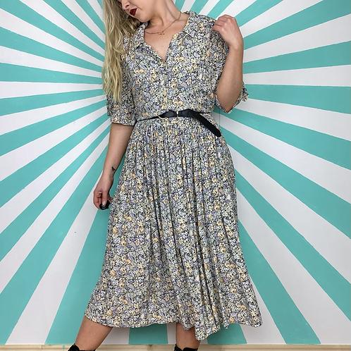 Pastel Floral Midi Dress