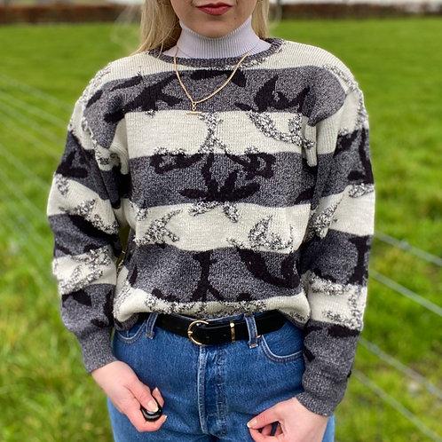 Funky Monochrome Knit Sweater