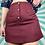 Thumbnail: Vintage Burgundy Woollen Skirt