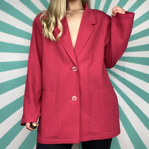 Vintage Cerise Pink Blazer