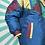 Thumbnail: Navy Retro Metallic Coat
