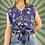 Thumbnail: Vintage Navy Floral Blouse
