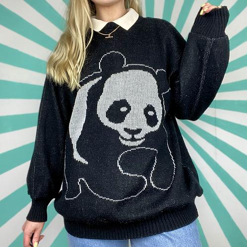 Vintage Panda Knit Jumper