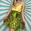 Thumbnail: Green Sheer Mini Skirt