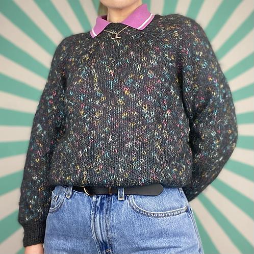 Grey Speckled Summer Knit