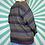 Thumbnail: Purple Funky Knit Jumper