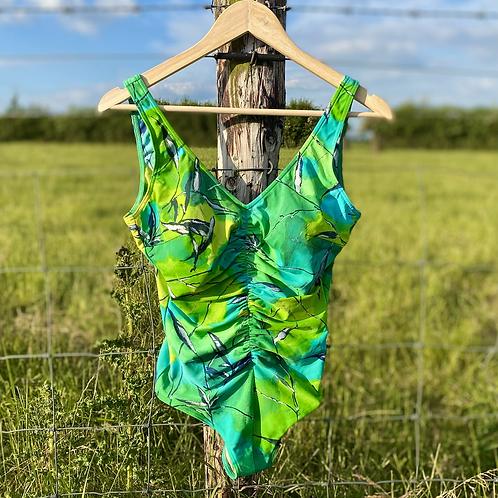 Vintage Green Retro Swimsuit