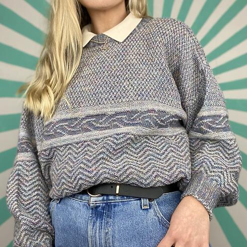 Lilac Grey Funky Knit