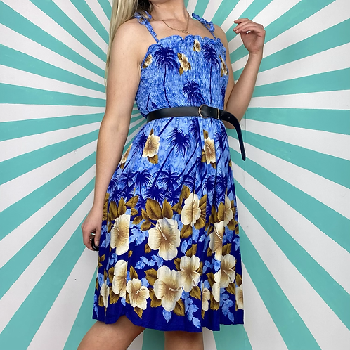 Blue Hawaiian Summer Dress