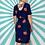Thumbnail: Navy Poppy Midi Dress