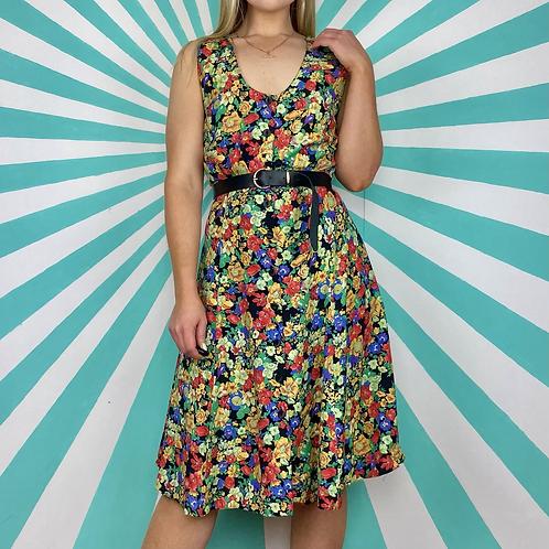 Vintage Floral Summer Dress
