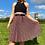 Thumbnail: Black Floral Pleated Skirt