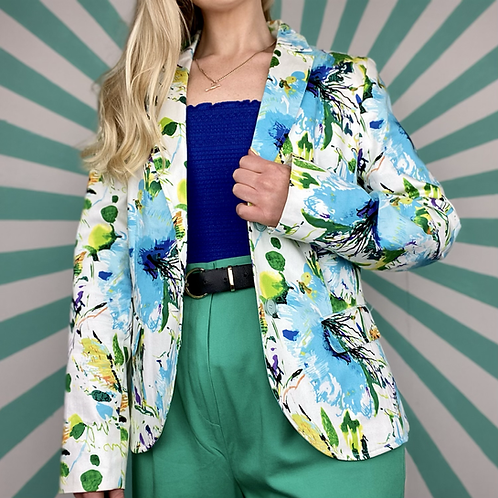 Blue Floral Summer Blazer