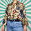 Thumbnail: Beige Funky Patterned Shirt