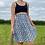Thumbnail: Blue Floral Pleated Skirt