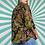Thumbnail: Green Retro Pattern Blouse