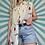 Thumbnail: Vintage Sleeveless Floral Blouse
