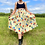 Thumbnail: Yellow Floral Pleated Skirt