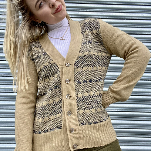 Vintage Funky Knit Cardigan