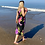 Thumbnail: Black Hawaiian Midi Dress