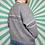 Thumbnail: Lilac Grey Funky Knit