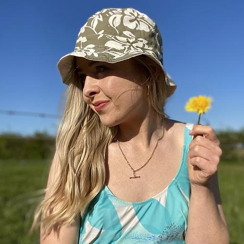 Khaki Floral Bucket Hat