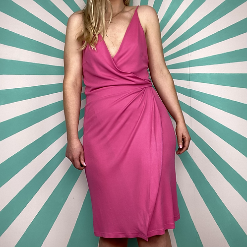 Vintage Pink Wrap Dress