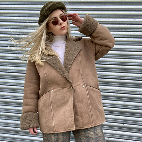 French Shearling Leather Jacket